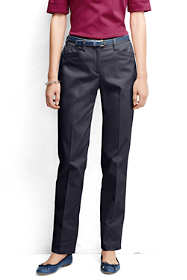 Women's Plain Straight Leg Chino Pants