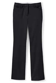 School Uniform Women's Petite Straight Fit Plain Boot Cut Chino Pants