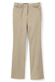 25873a263a2 Women s Plus Size Straight Fit Plain Boot Cut Chino Pants