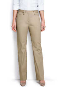 Women's Petite Curvy Fit Plain Boot Cut Chino Pants