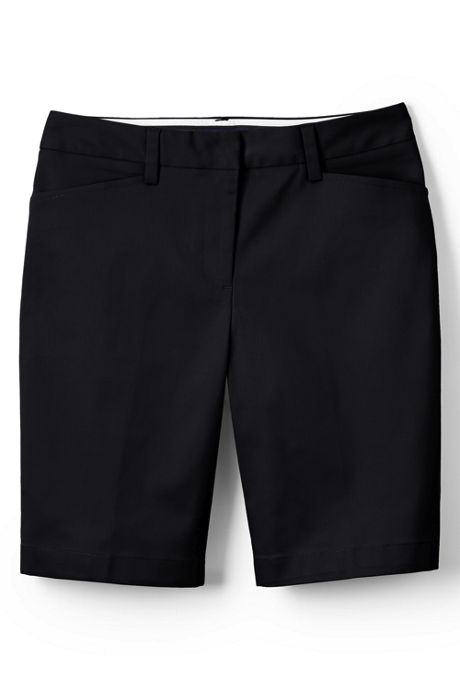 Women's Straight Fit Plain Front 10 Inch Chino Shorts