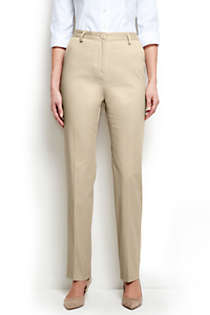 Women's Straight Fit Plain 7 Day Chino Pants, Front