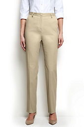 Women's Regular Straight Fit Plain 7 Day Chino Pants