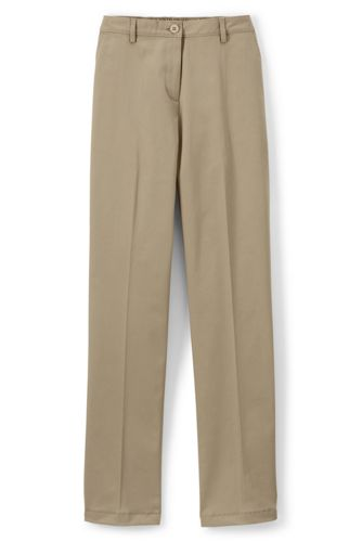 Women's Straight Fit Plain 7 Day Chino Pants
