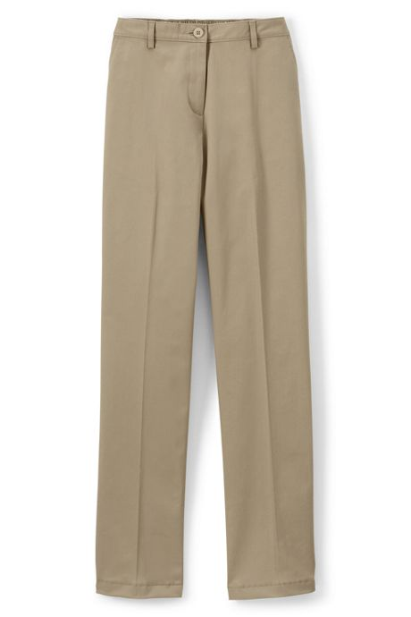 Women's Straight Fit Plain Front Straight Leg 7-Day Chino Pants