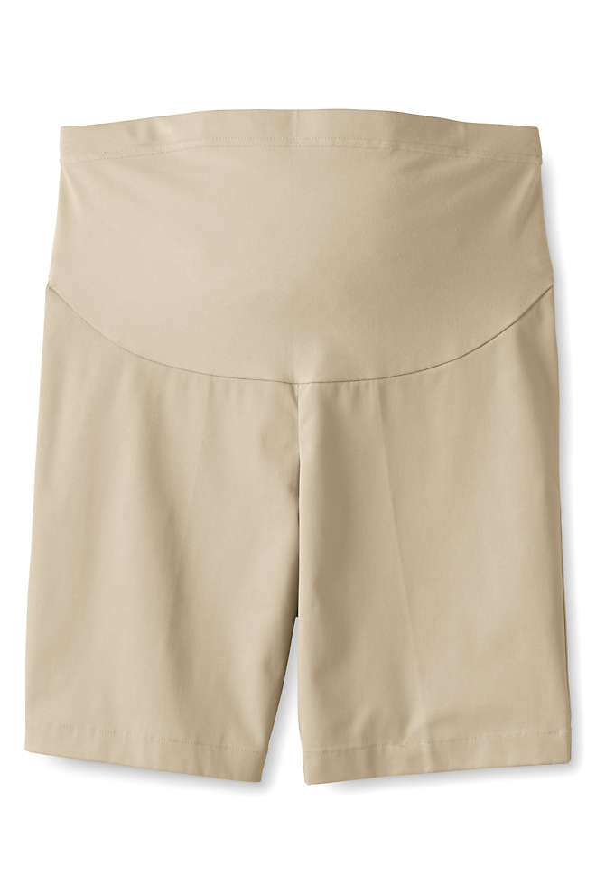Women's Maternity Straight Fit Plain Front Chino Shorts, Front