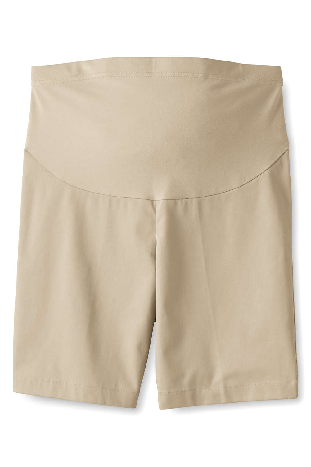 85b3bc4778 Women s Maternity Straight Fit Plain Front Chino Shorts from Lands  End