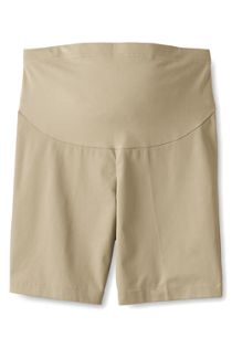 Maternity Straight Fit Plain Front Chino Shorts