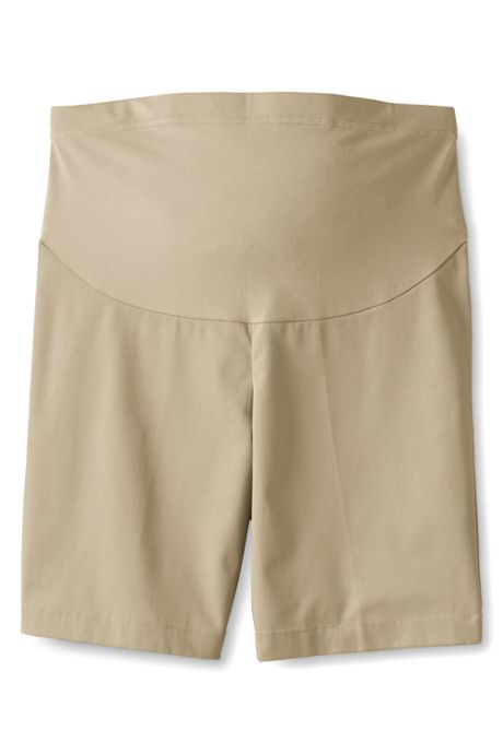 Women's Maternity Straight Fit Plain Front Chino Shorts