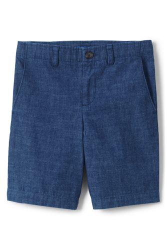 Kadetten-Shorts aus Chambray für große Jungen