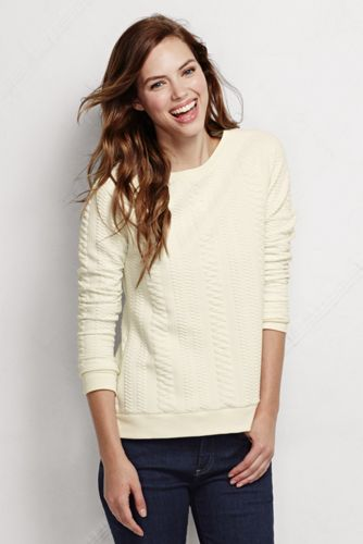 Women's Regular Cable Jacquard Top