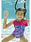 Little Girls' Bohemian Beach Ruffle Swimsuit
