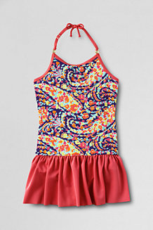 Girls' Bohemian Beach Skirted Swimsuit