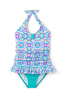 Girls' Printed Frill Swimsuit