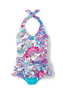 Girls' Sea Garden Skirted Swimsuit