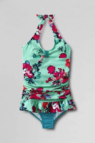 Little Girls' Sea Garden Skirted Swimsuit