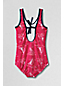 Little Girls' Anchors Away Printed Tie Back  Swimsuit