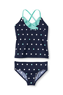 Girls' Coastal Spirit Ruffle Tankini Set