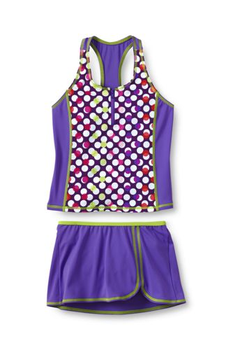 Little Girls' Smart Swim Racerback Tankini SwimMini Set