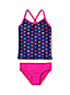 Toddler Girls' Smart Swim V-Neck Patterned Tankini Set