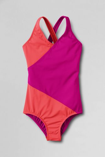 Little Girls' Smart Swim Colourblock Wrap Swimsuit