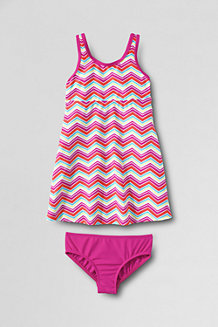 Girls' Smart Swim Printed Swim Dress Set