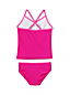Little Girls' Smart Swim V-Neck Graphic Tankini Set