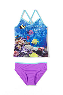 L' Ensemble de Bain Tankini Sport Graphique Fille