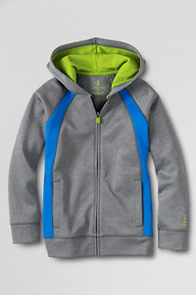 Boys' Full-Zip Hooded Tricot Jacket