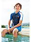 Colorblock SunSafe-Kurzarmshirt für kleine Jungen