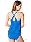Women's Beach Living D-Cup Scoop Neck Blouson Tankini Top