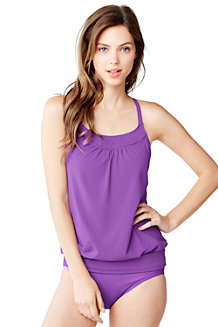 Women's DD-Cup Beach Living Blouson Tankini Top