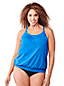 Women's Plus Beach Living Blouson Tankini Top
