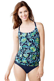 Women's D-Cup Beach Living Blouson Tankini Top
