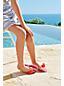 Zehensteg-Sandale mit Blüten für Mädchen