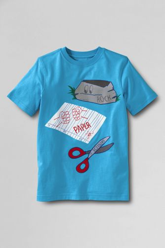 Boys' Graphic T-shirt - Reef Blue Rock Paper Scissors