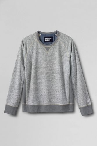 Graumelierter French Terry-Pullover
