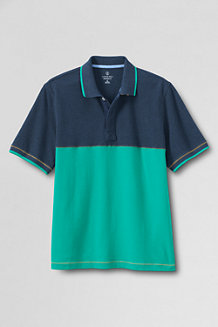 Men's  Short Sleeve Colourblock Pique Polo