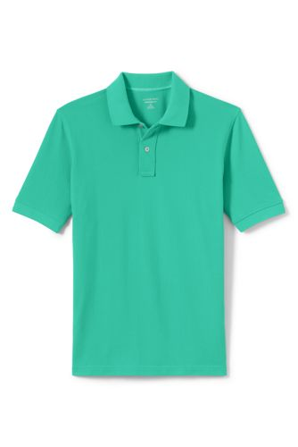 Men's Mesh Short Sleeve Polo Shirt by Lands' End