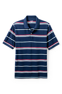 Men's Striped Traditional Fit Piqué Polo