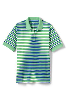 Men's Striped Piqué Polo Shirt