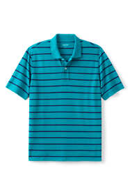 Men's Mesh Short Sleeve Stripe Polo Shirt