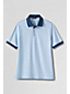 Men's Regular Short Sleeve Textured Stripe Supima Polo