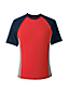 Men's Regular Short Sleeve Colourblock Rash Vest