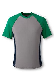 Men's Short Sleeve Colourblock Rash Vest