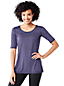 Women's Tall Print Elbow-sleeve Workout Tee