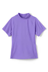 Girls Short Sleeve Rash Guard