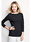 Women's Regular Plain Cling-Free Rib Boatneck Tee