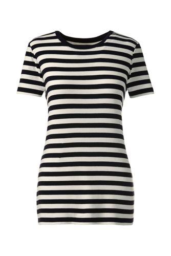 Gestreiftes T-Shirt mit Rundhals-Ausschnitt in Petite-Größe