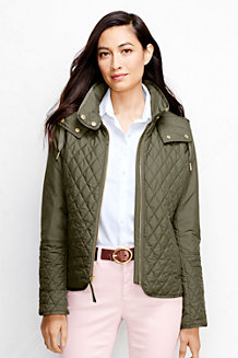 Women's Quilted Primaloft® Hooded Jacket